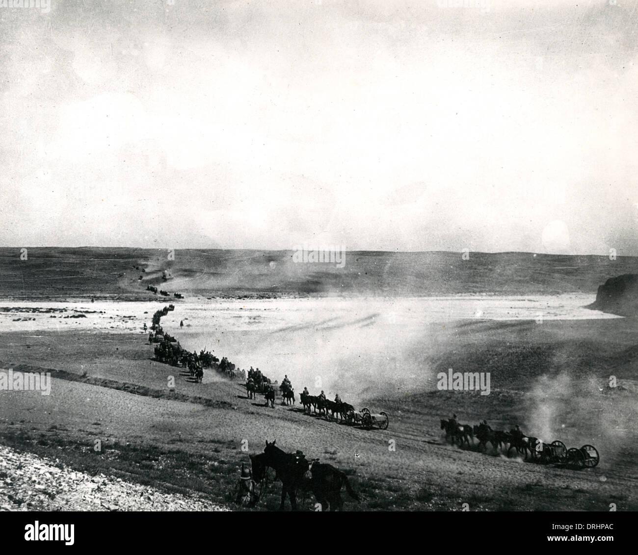 British reconnaissance at Wadi Saba, Palestine, WW1 - Stock Image