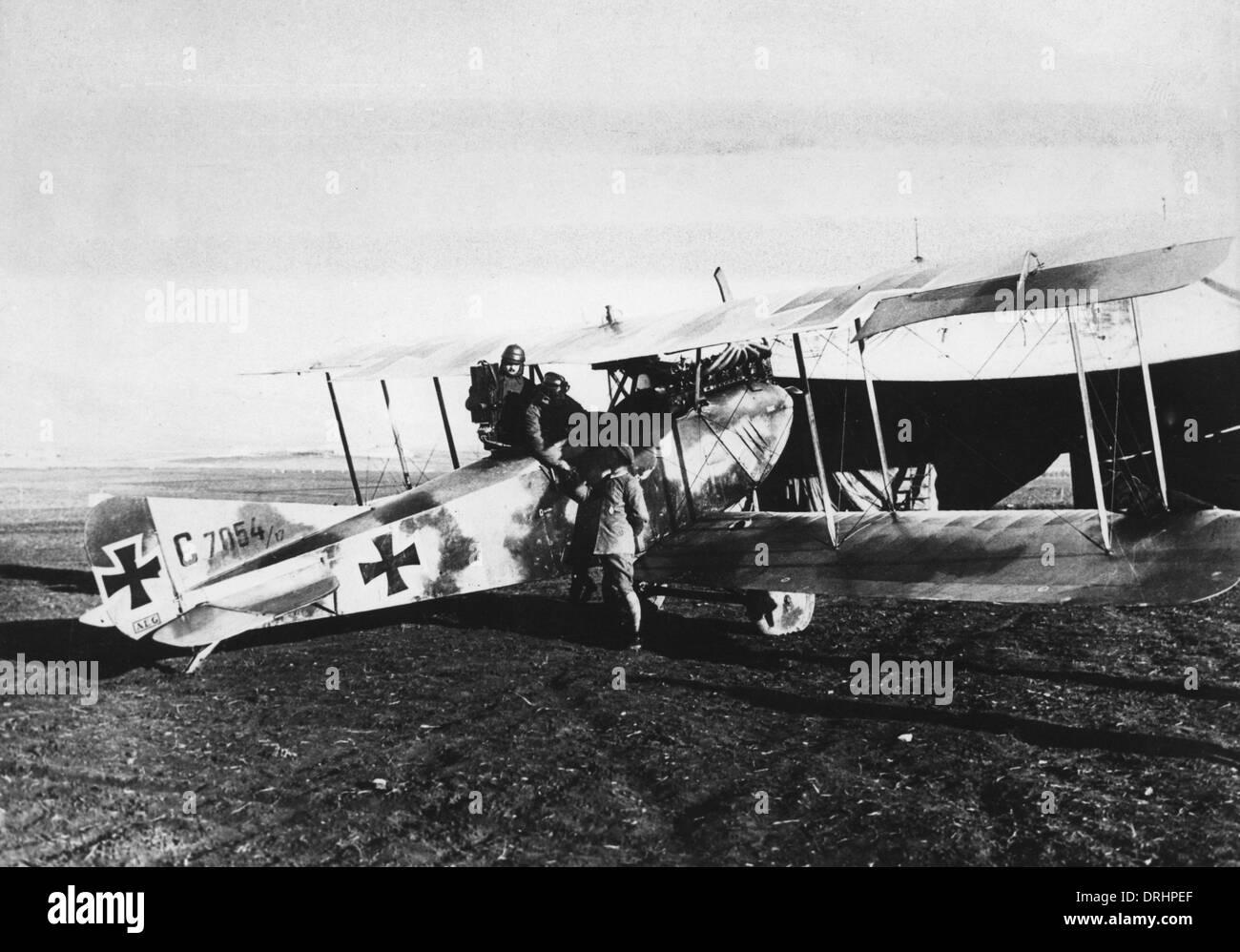 German biplane on Palestine Front, Turkey, WW1 Stock Photo