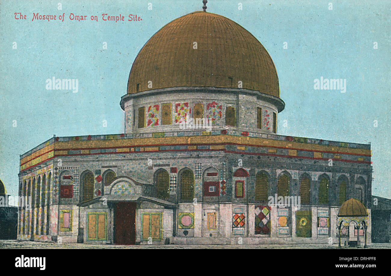 Jerusalem: the Mosque of Omar (Dome of the Rock) - Stock Image