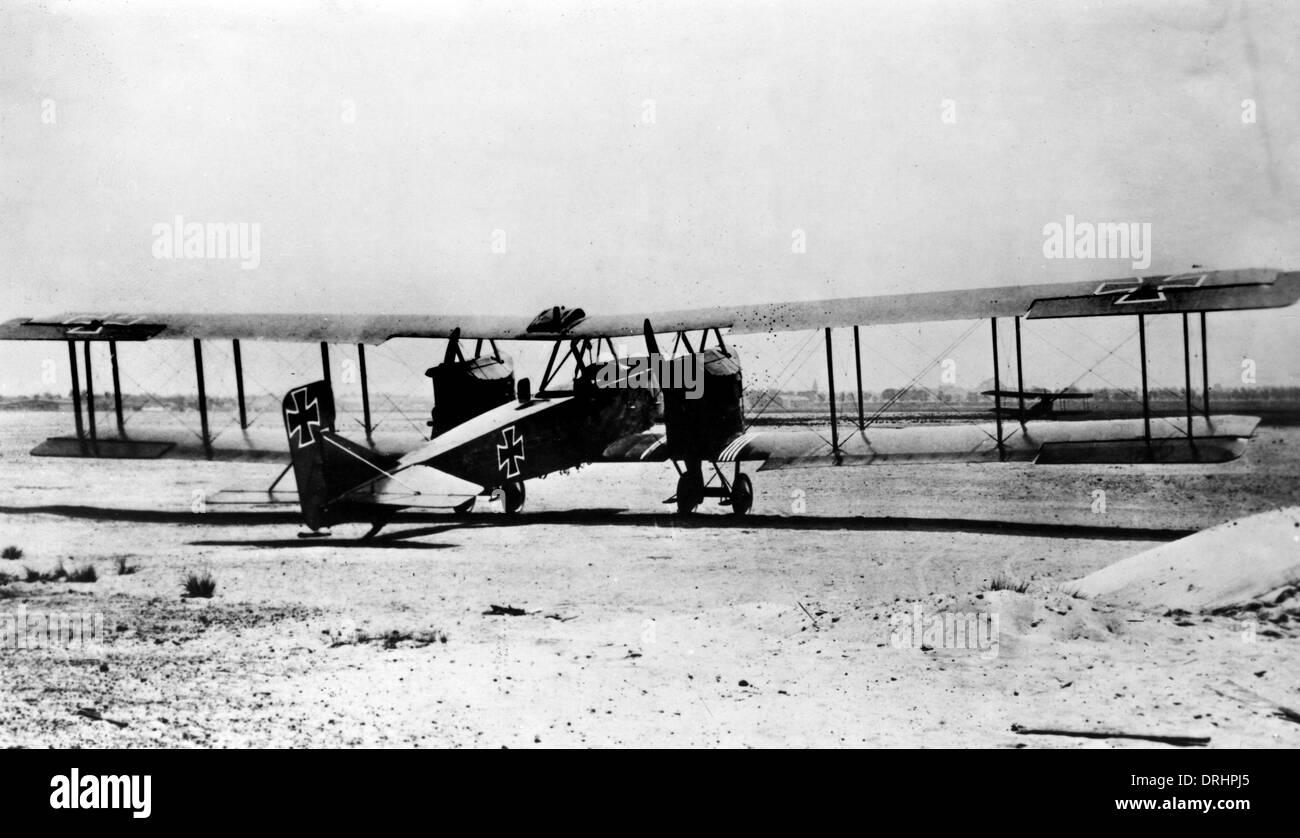 German Gotha G.IV heavy bomber, WW1 - Stock Image