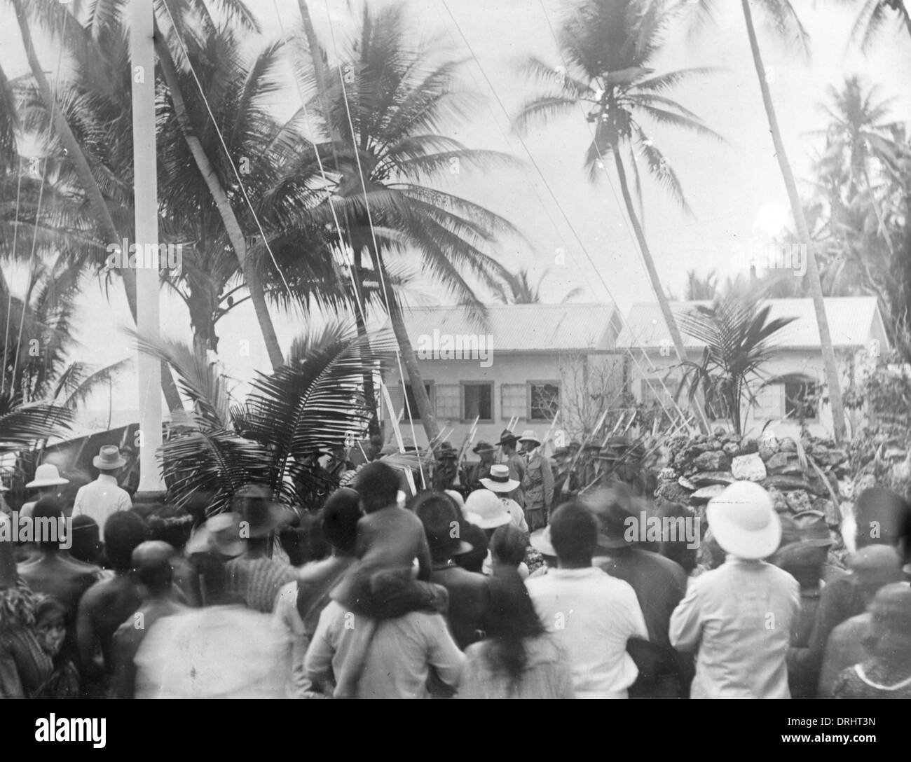 Australian occupation of Nauru, South Pacific, WW1 - Stock Image