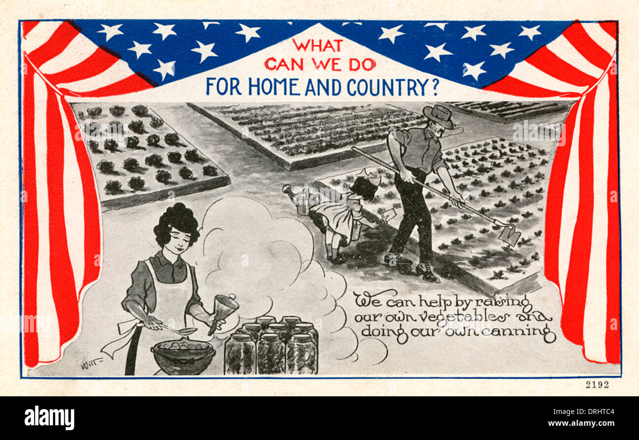 The American war effort at home - WWI - Stock Image