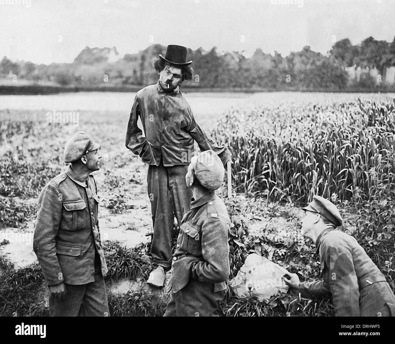 Motor transport troops, Western Front, France, WW1 - Stock Image