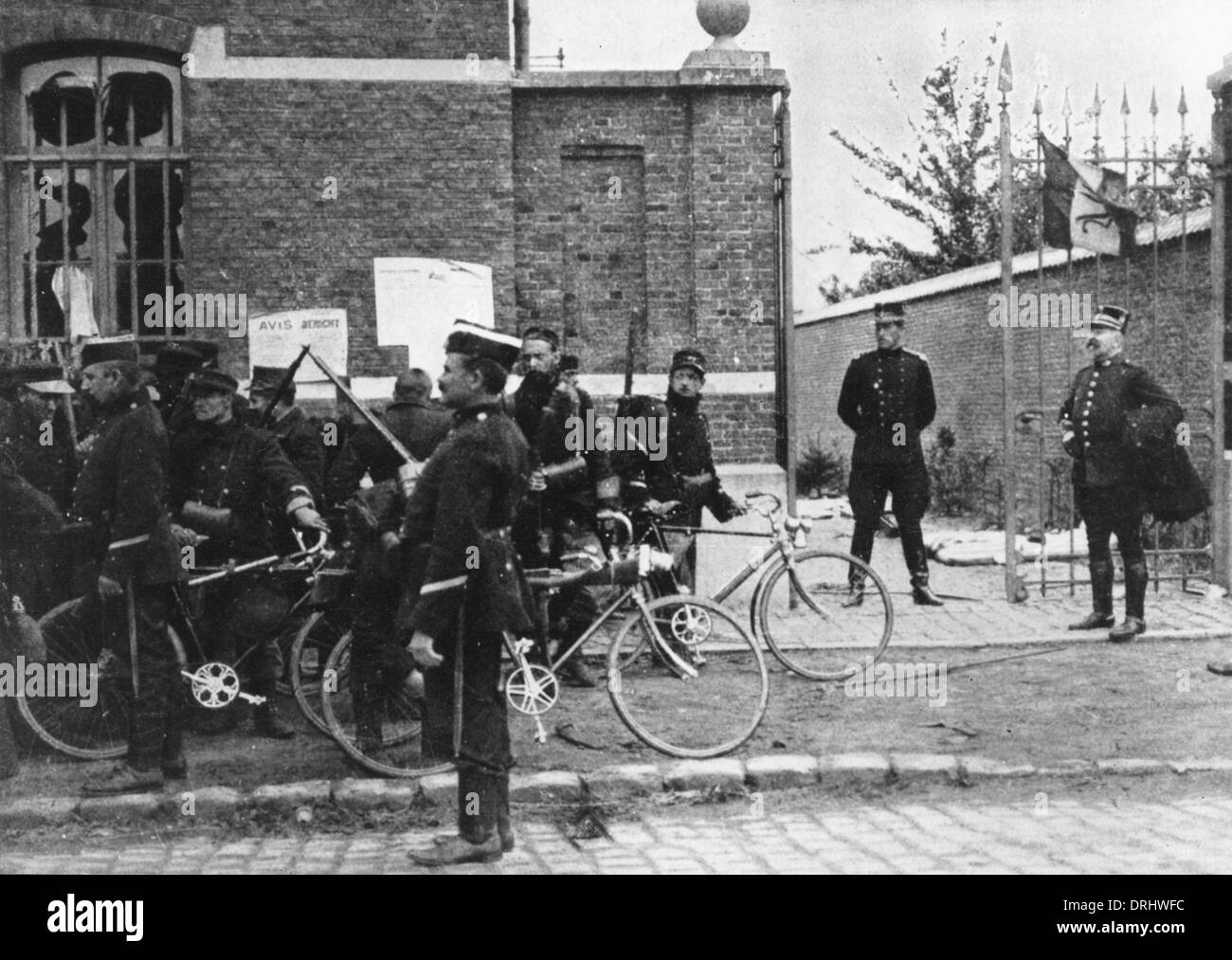 King Albert I of Belgium, retreat to Antwerp, WW1 Stock Photo