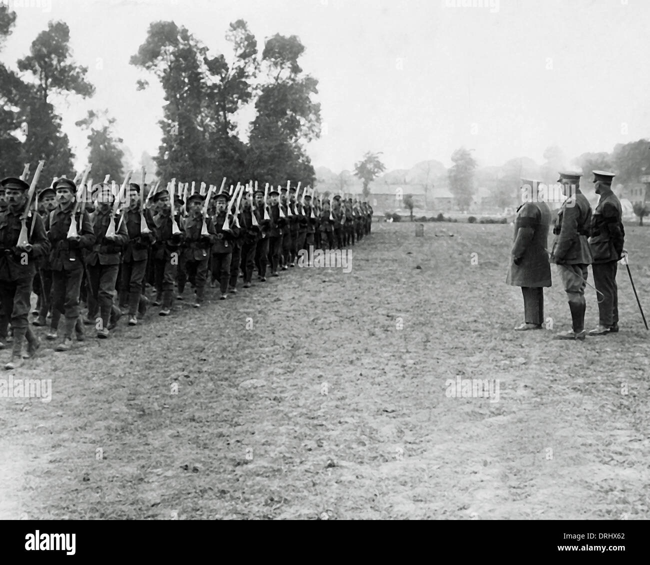 Lord Mayor of London visiting Western Front, WW1 - Stock Image
