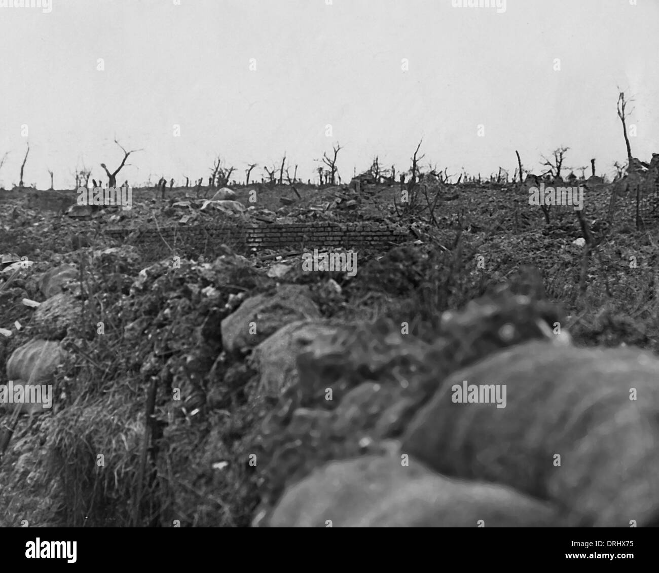 Fire Trench Stock Photos Images Alamy Diagram Ww1 British Near Ovillers Western Front Image