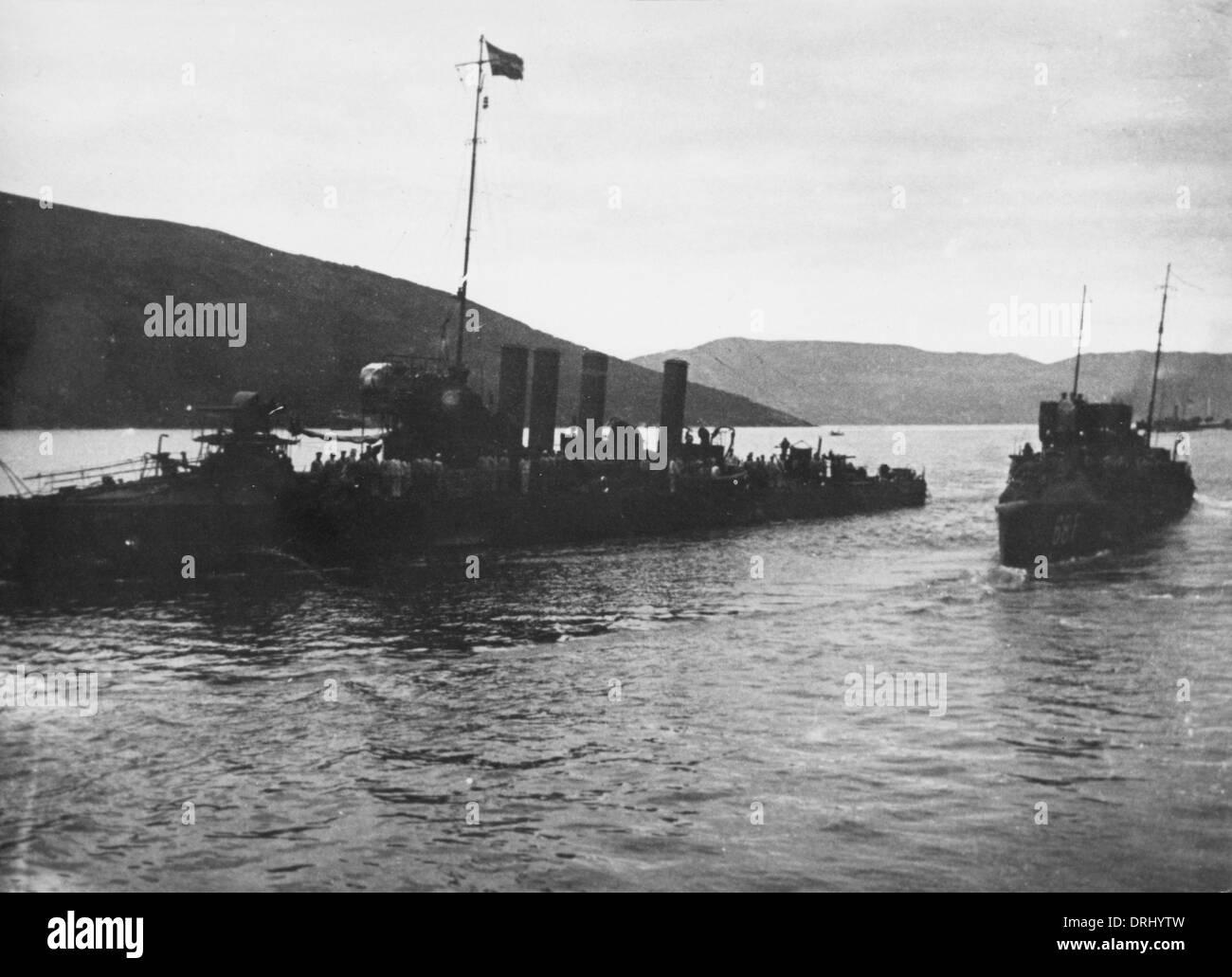 SMS Csikos, Austro-Hungarian destroyer, WW1 - Stock Image