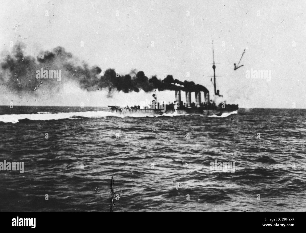 Austrian battleship SMS Novara, Adriatic, WW1 - Stock Image