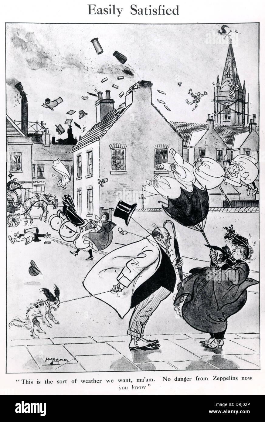 British cartoon, Easily Satisfied, WW1 - Stock Image