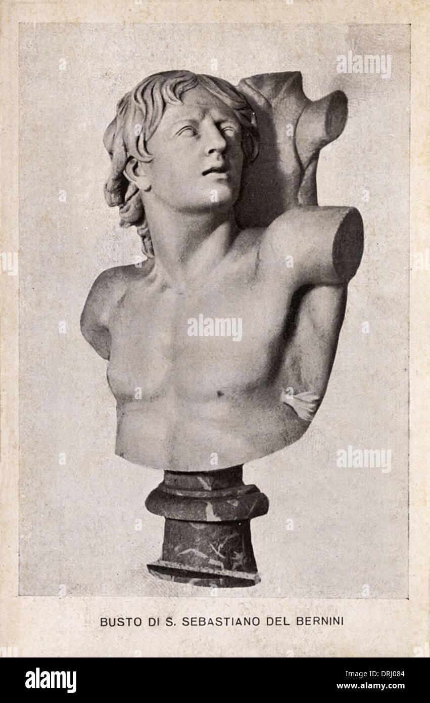Bust of Saint Sebatian by Bernini - Stock Image