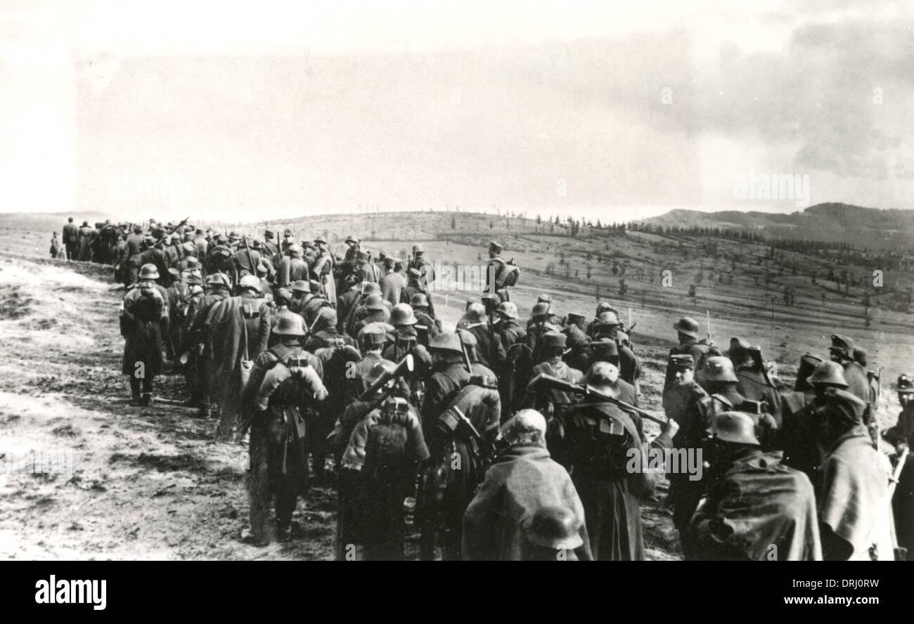 Romanian column, Austro-Hungarian army, WW1 - Stock Image