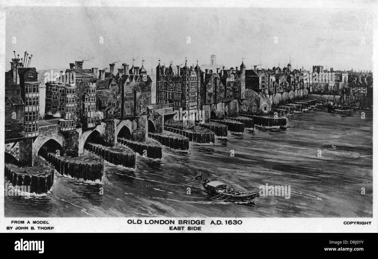 Old London Bridge - circa AD 1630