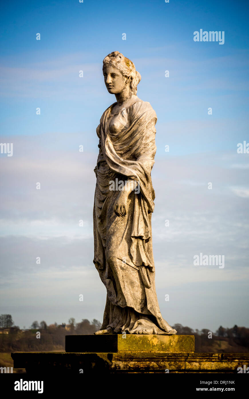 Statue on the Temple of the Four Winds. Castle Howard, North Yorkshire. - Stock Image
