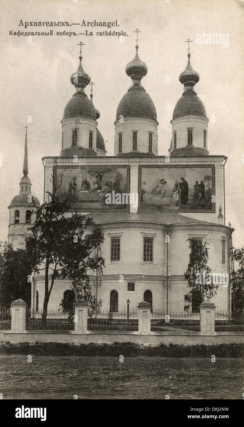 Cathedral at Archangel, Russia - Stock Image