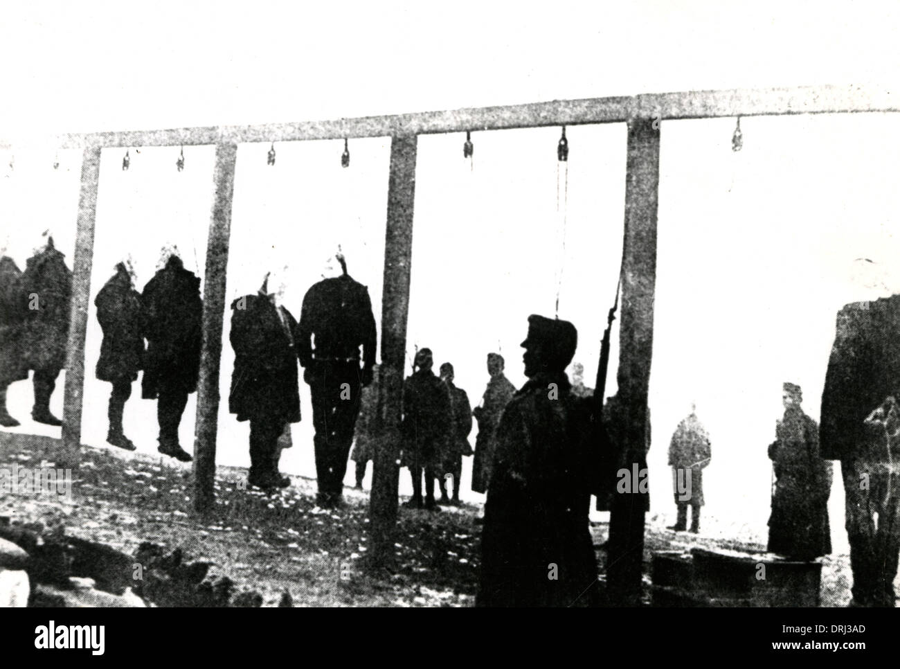 Reprisals against Serbians, Herzegovina, WW1 - Stock Image