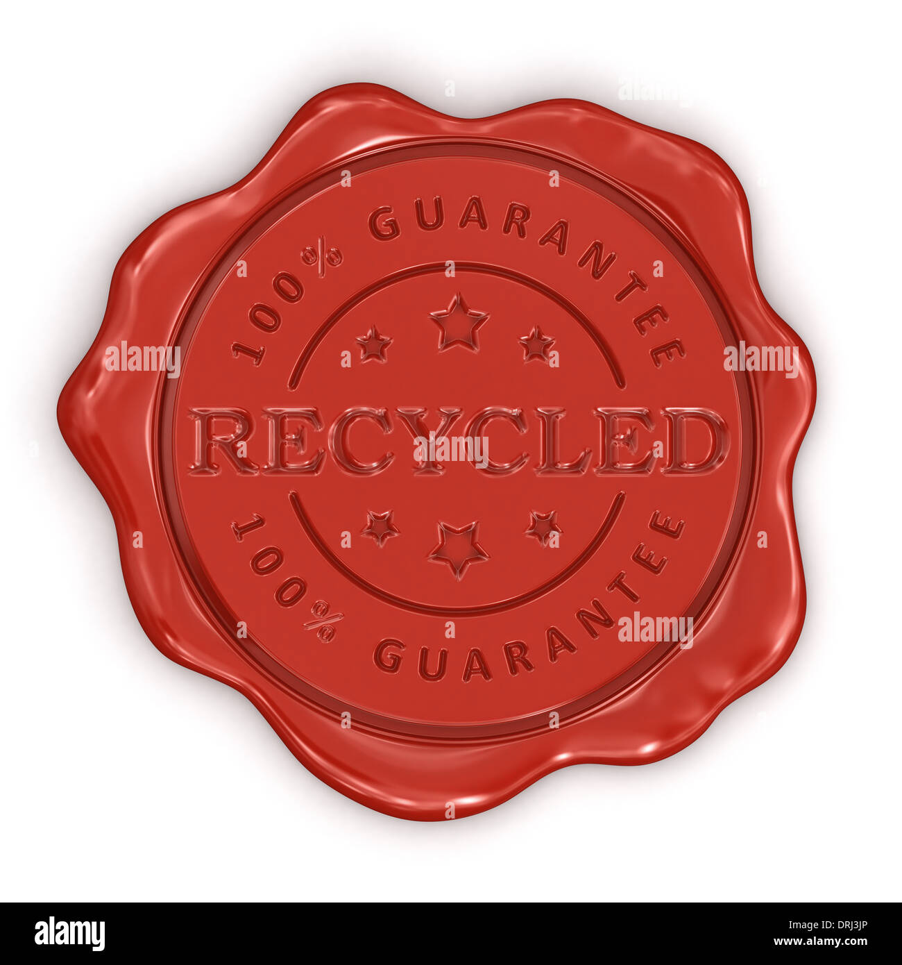Wax Stamp Received (clipping path included) - Stock Image