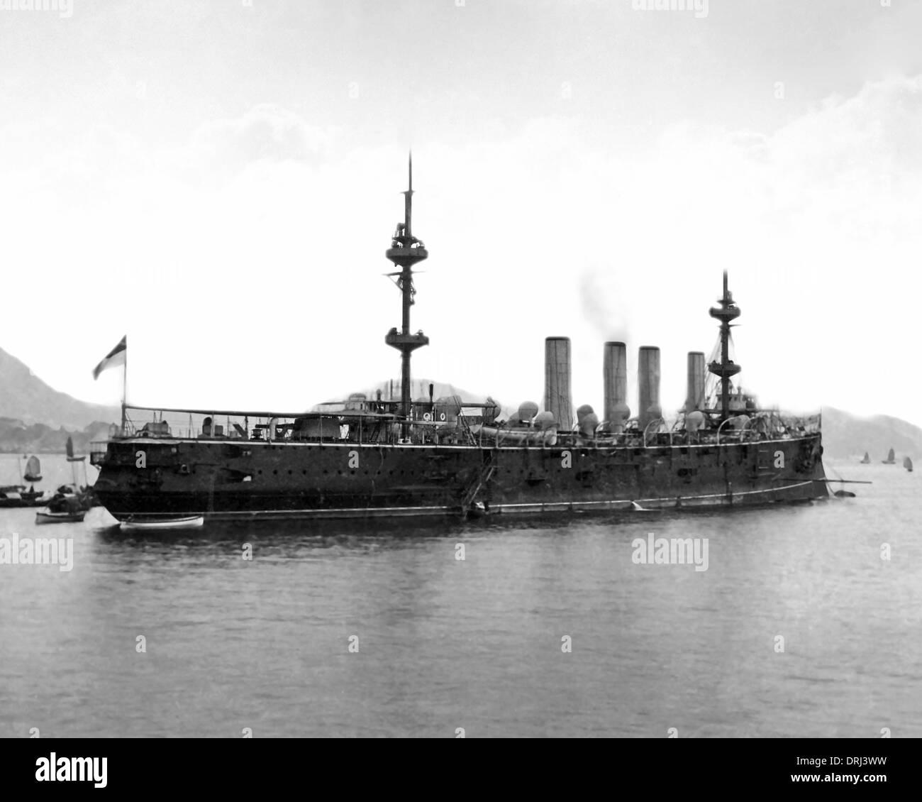 Ship on the water, Hong Kong, China - Stock Image