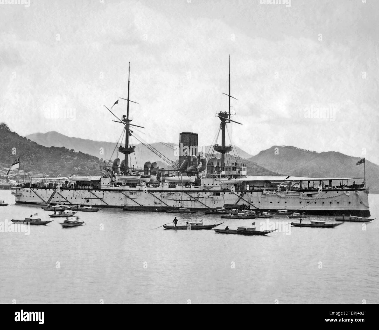 Ship in harbour, Hong Kong, China - Stock Image