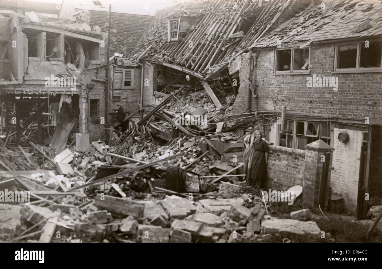 World War Two Bomb Damage - Stock Image