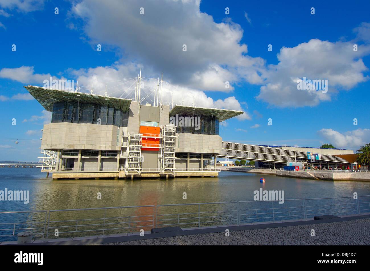 Lisbon. Aquarium in Parque das Nações, Oceanarium at Park of Nations, Lisbon Expo 98. Portugal Stock Photo