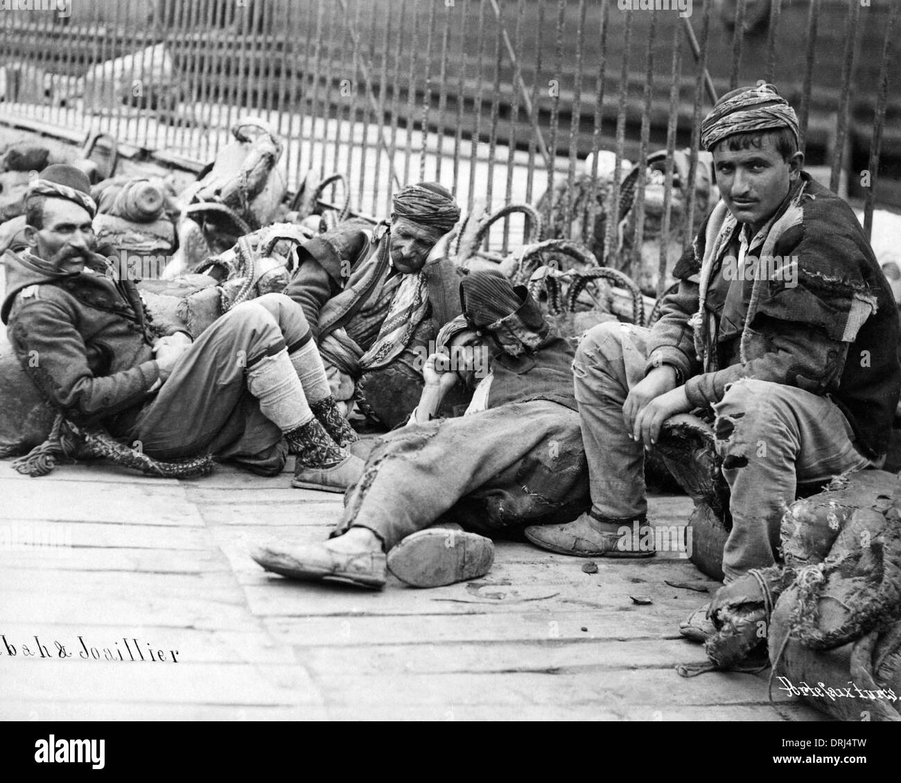 Turkish porters resting, Turkey - Stock Image
