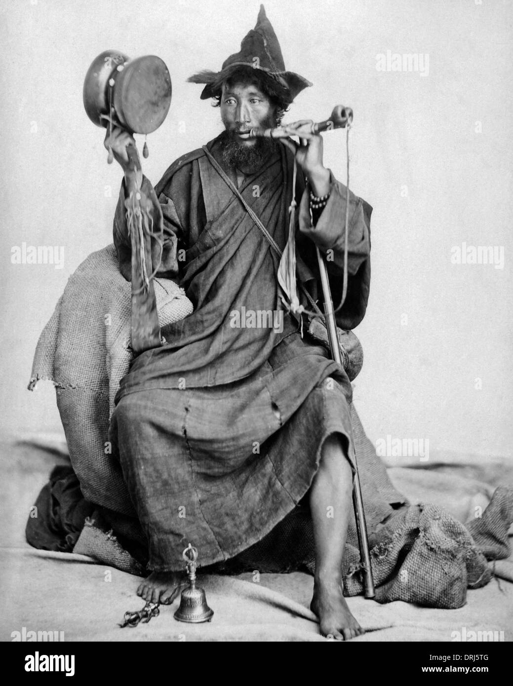 Bhutanese Lama, Darjeeling, India - Stock Image