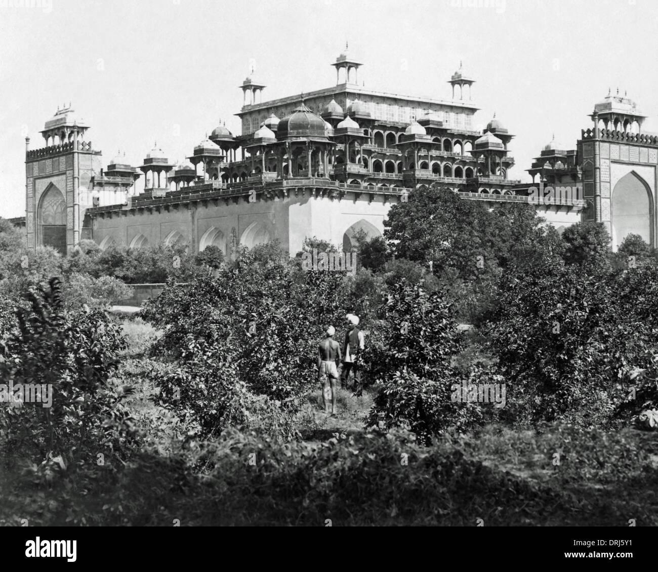 Mausoleum of Akbar, Sikandara, Agra, India - Stock Image
