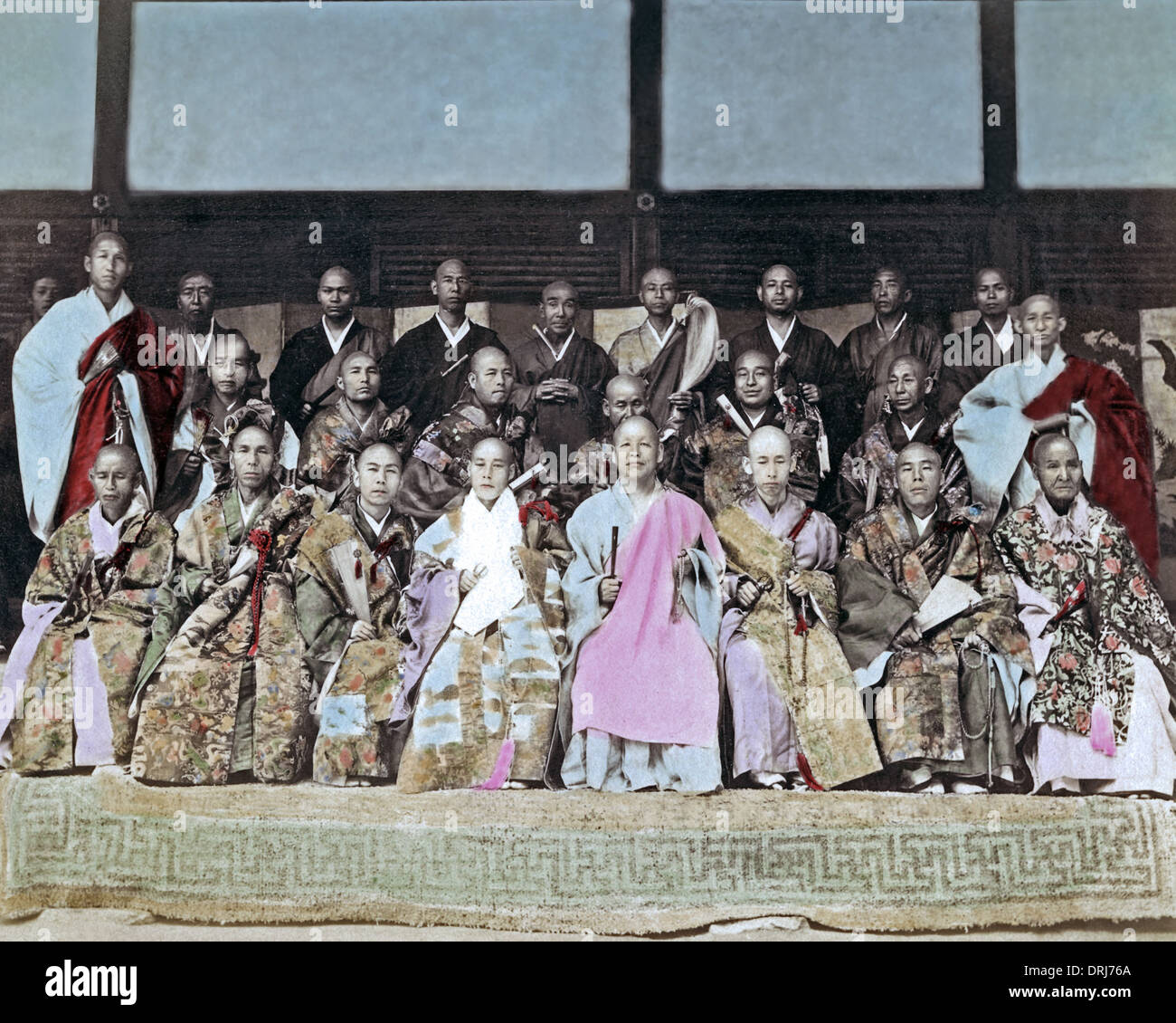 Buddhist priests, Japan - Stock Image