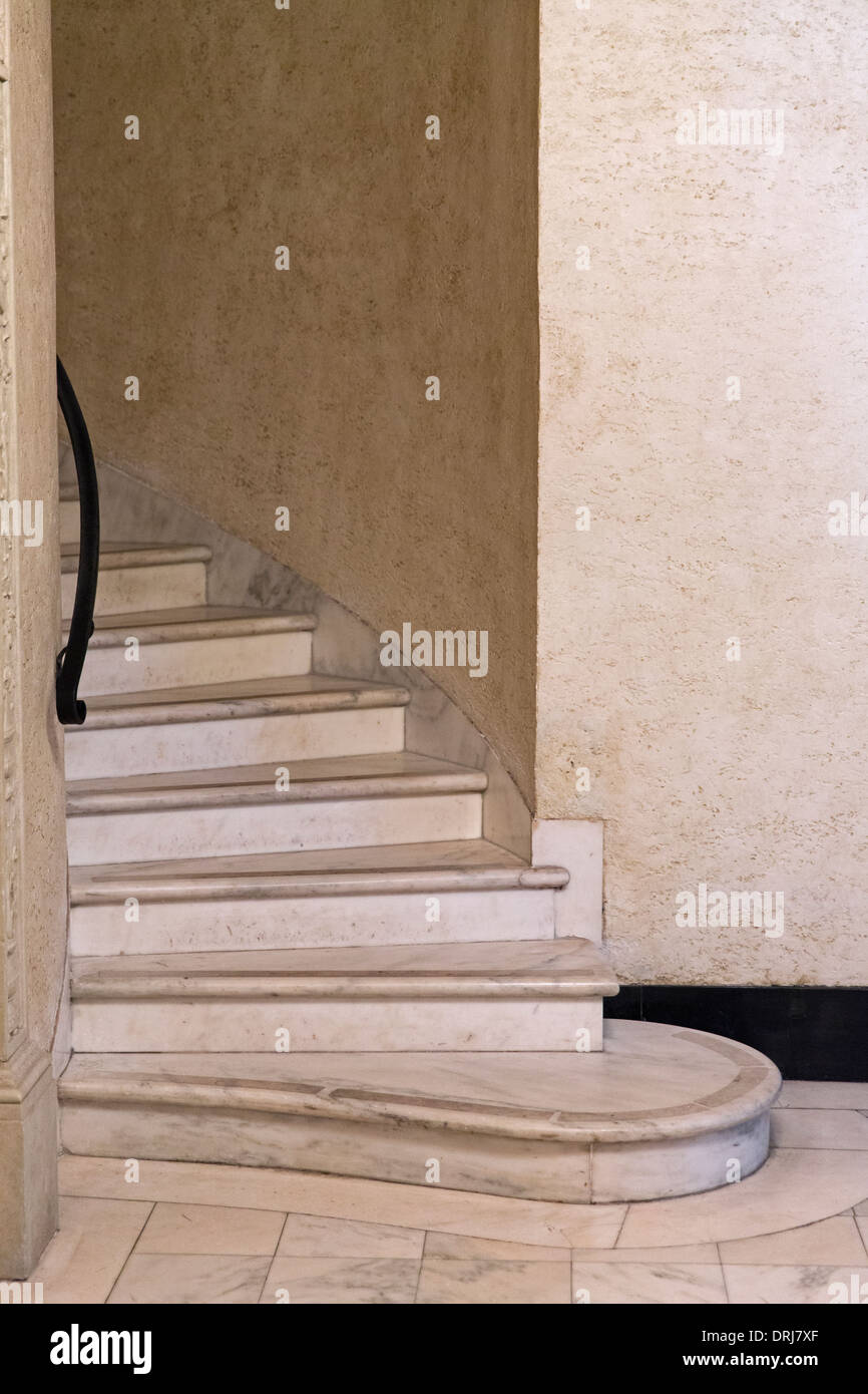 marble staircase - Stock Image