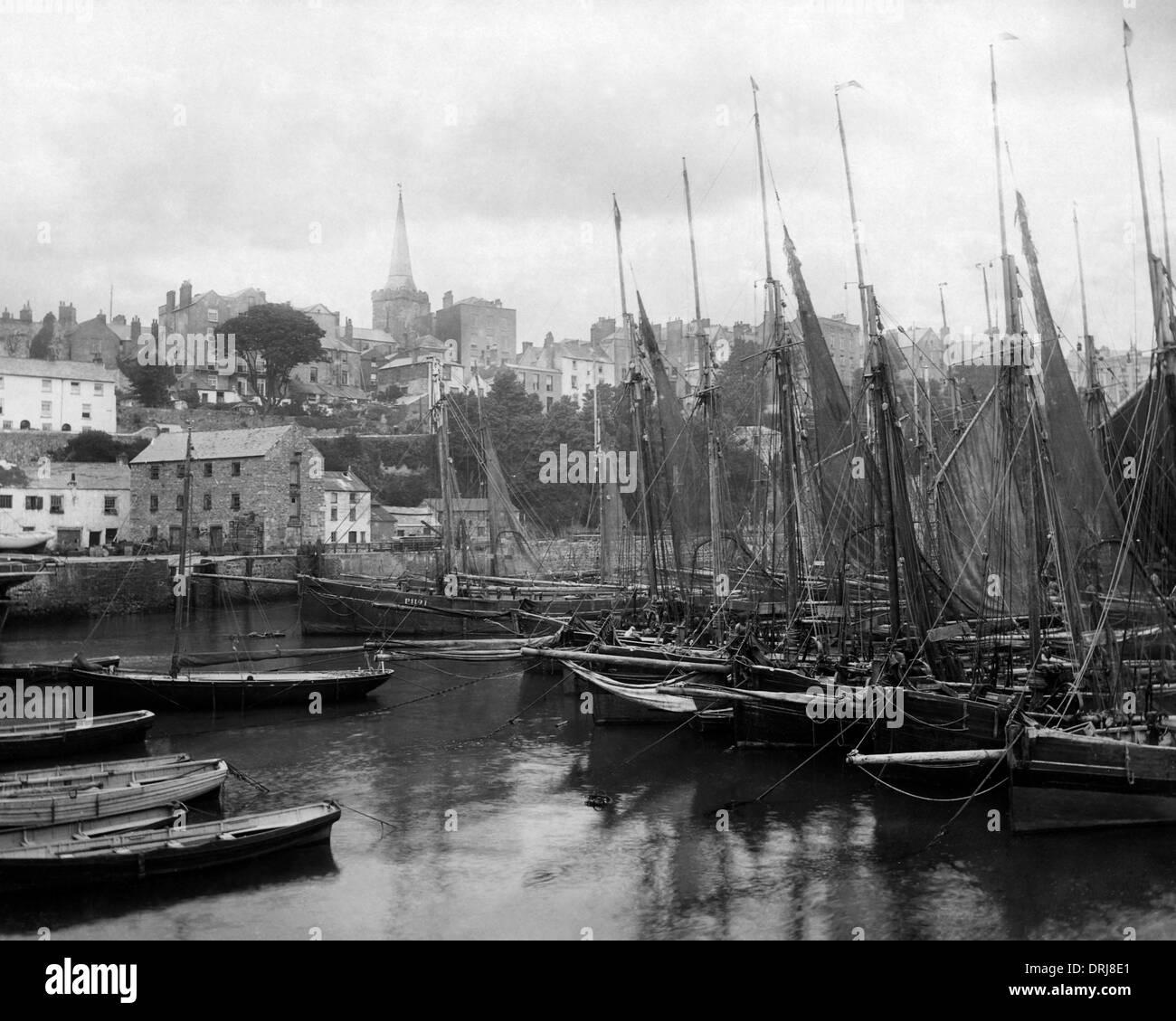Unnamed English fishing port - Stock Image
