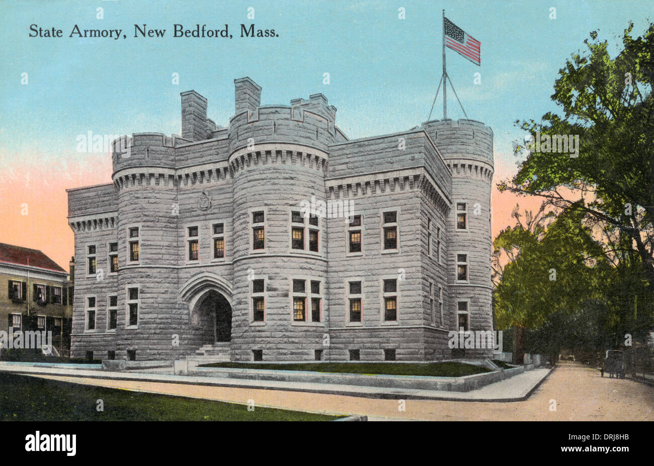 State Armoury, New Bedford, Massachusetts, USA - Stock Image