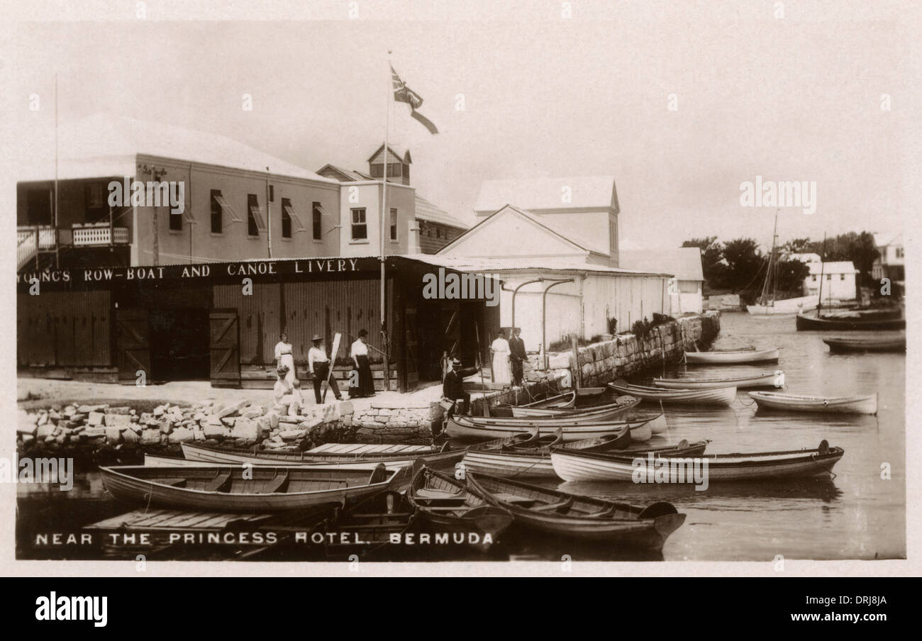 Young's Row-boat and Canoe Livery, Bermuda - Stock Image