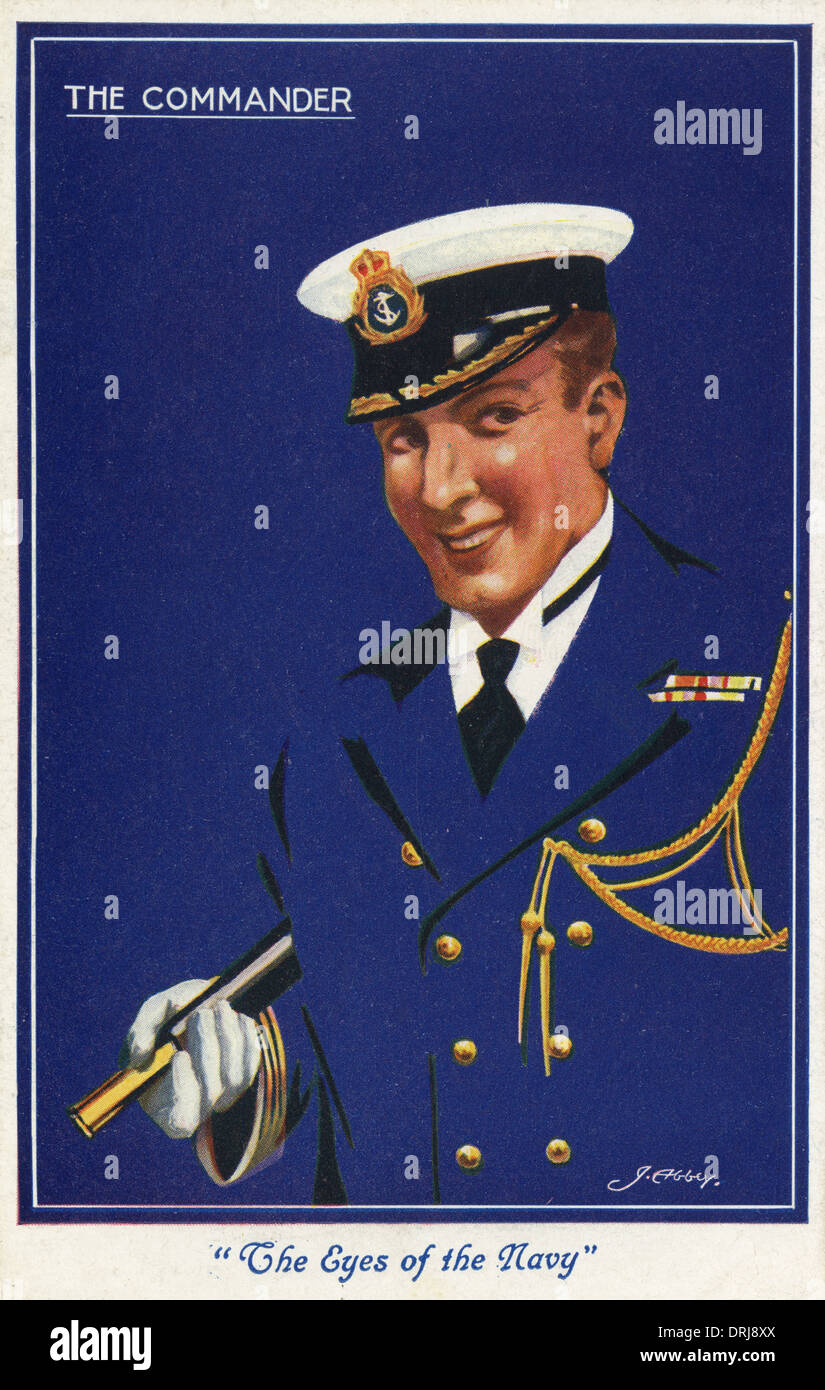 WWI - The Navy Commander - Stock Image