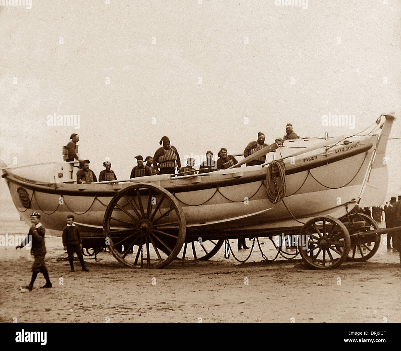 Filey Lifeboat early 1900s - Stock Image