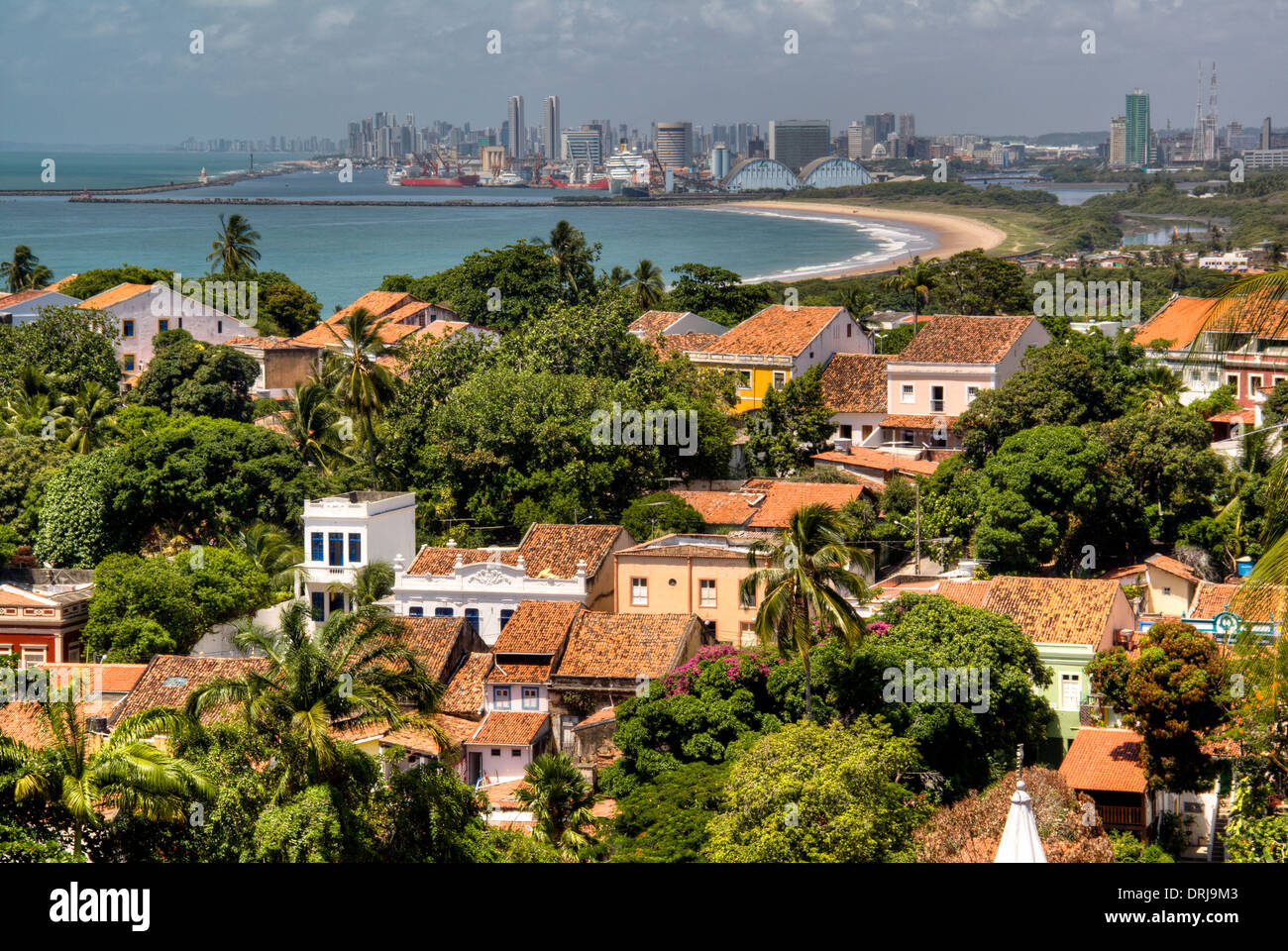 View over Recife from Olinda, Brazil - Stock Image