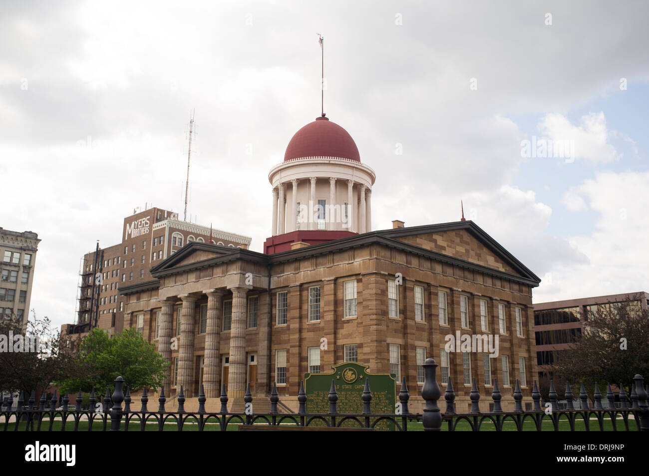 The Old State Capitol building in Springfield, Illinois on Apr. 23, 2012. - Stock Image