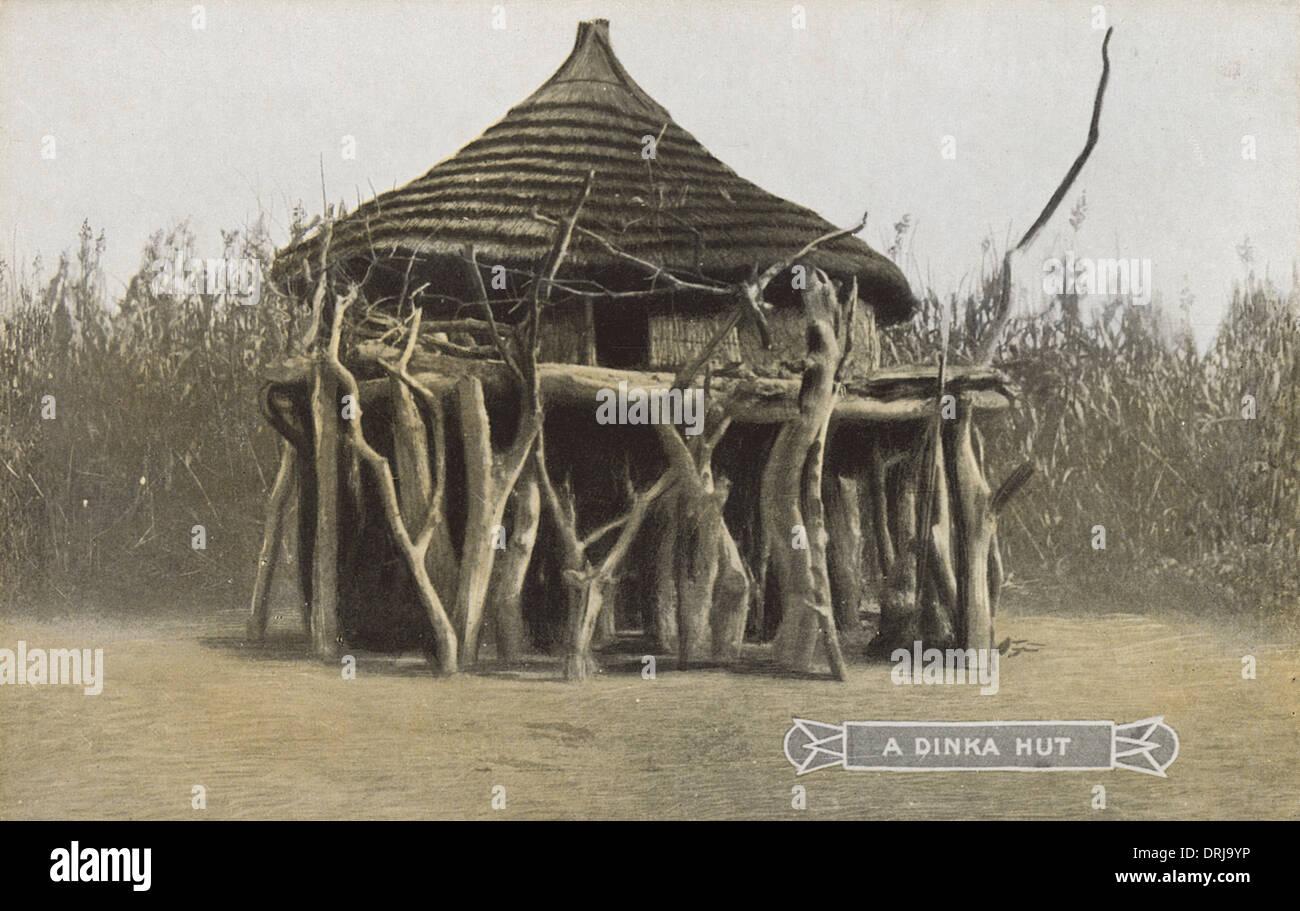 Sudan - A Dinka Hut - Stock Image