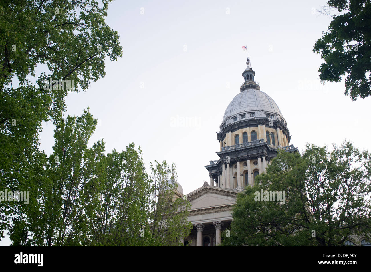 The Illinois State Capitol building in Springfield, Illinois on Apr. 23, 2012. - Stock Image