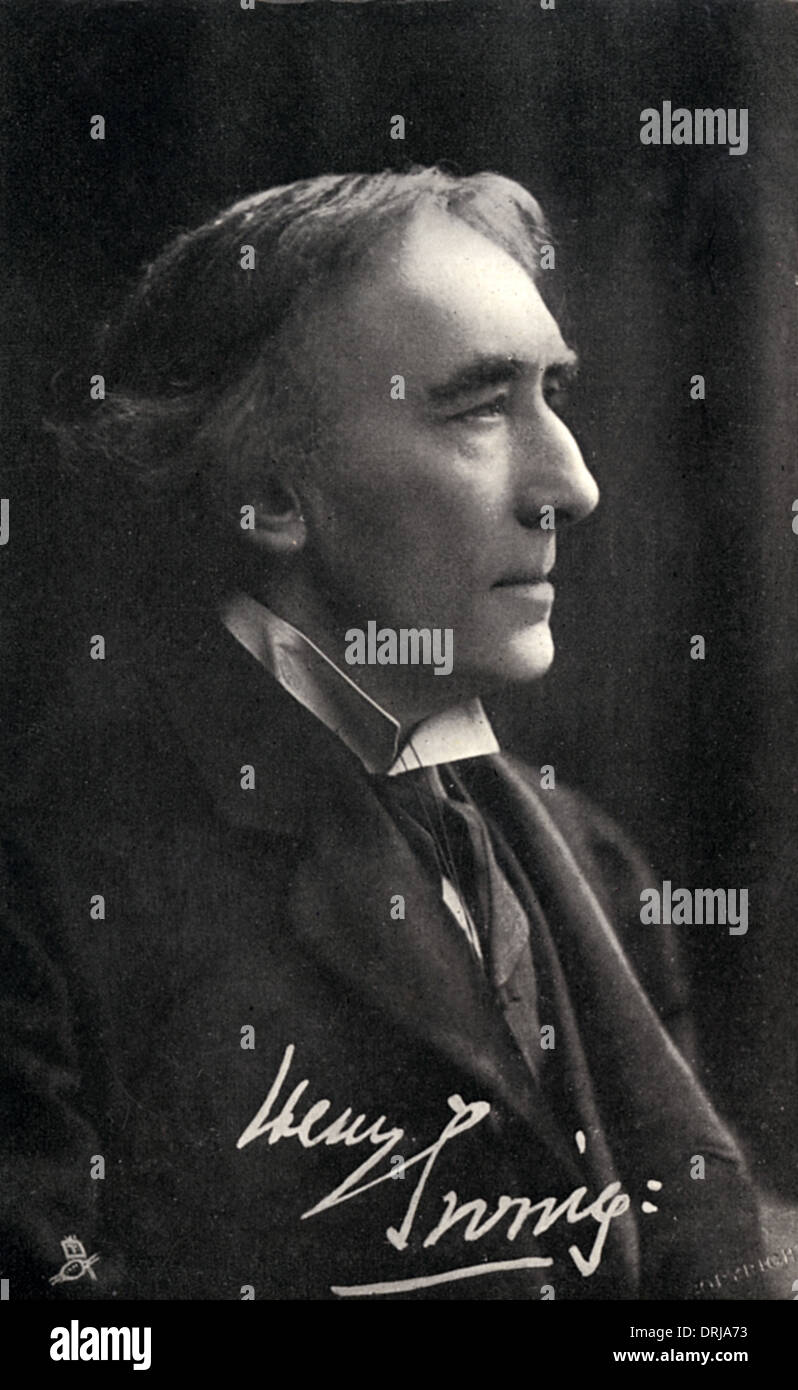Sir Henry Irving - Stock Image