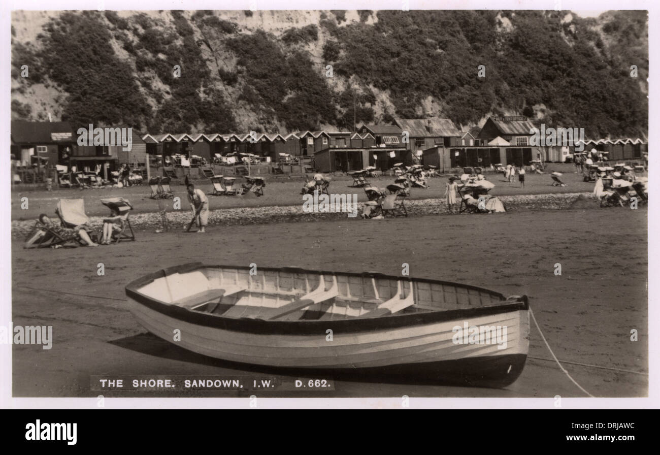 The Shore at Sandown, Isle of Wight - Stock Image