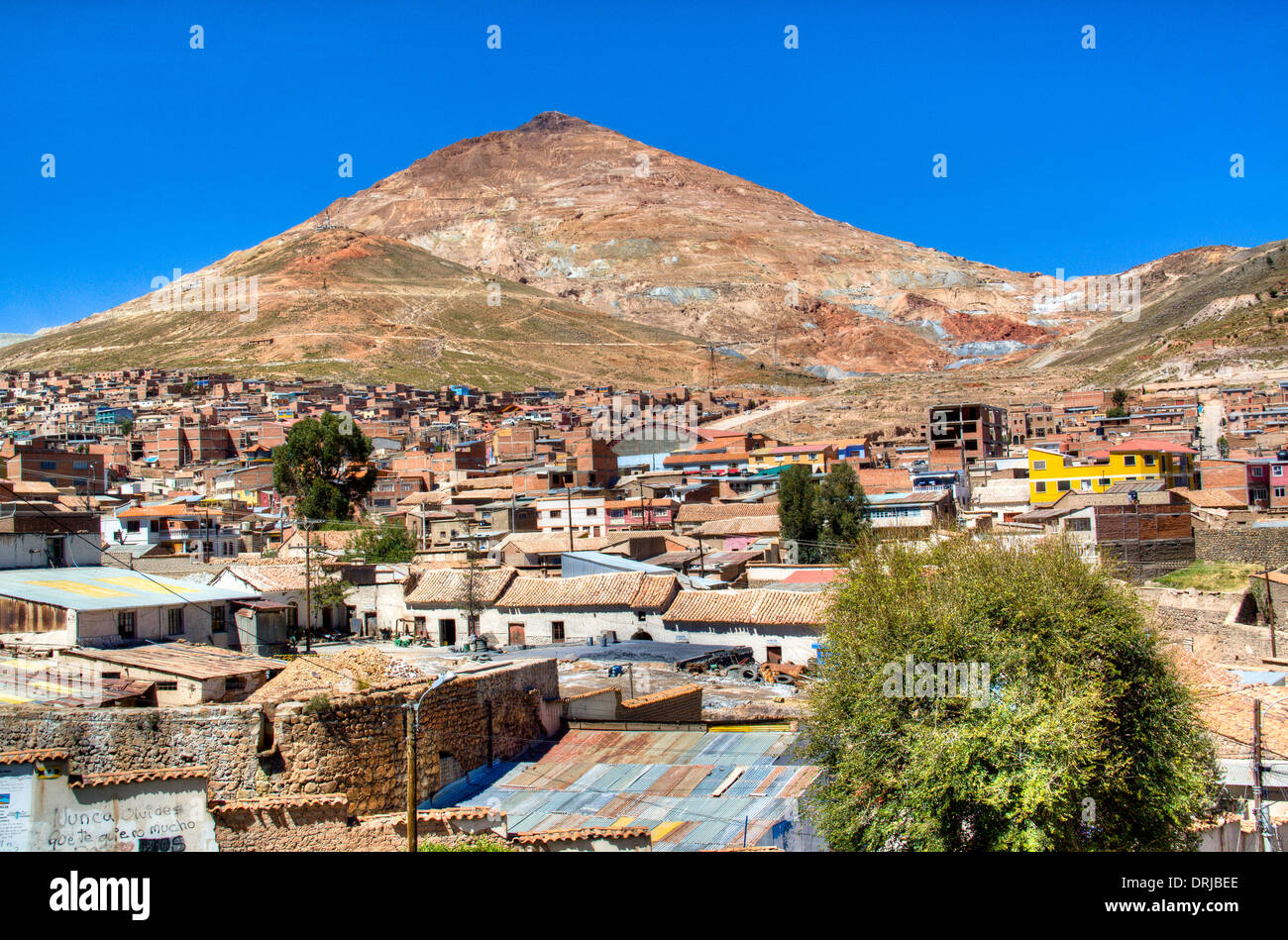 View on the cerro rico in Potosi, Bolivia - Stock Image