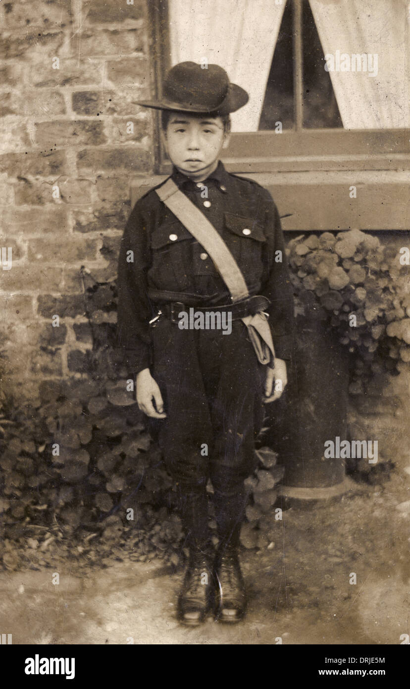 Early Boy Scout - Stock Image