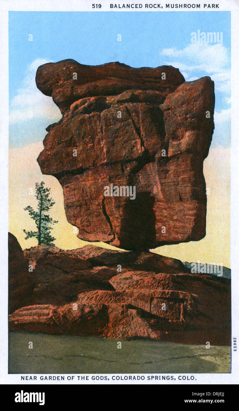 Balanced Rock, Garden of the Gods Park, Colorado Springs - Stock Image