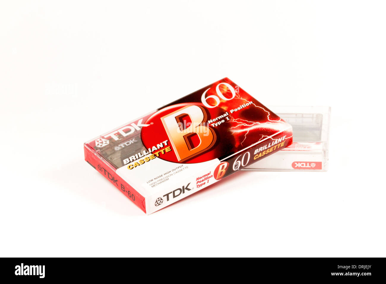 DURBAN, SOUTH AFRICA - JANUARY 24, 2014: One opened and one used TDK 60 minute cassette tape - Stock Image