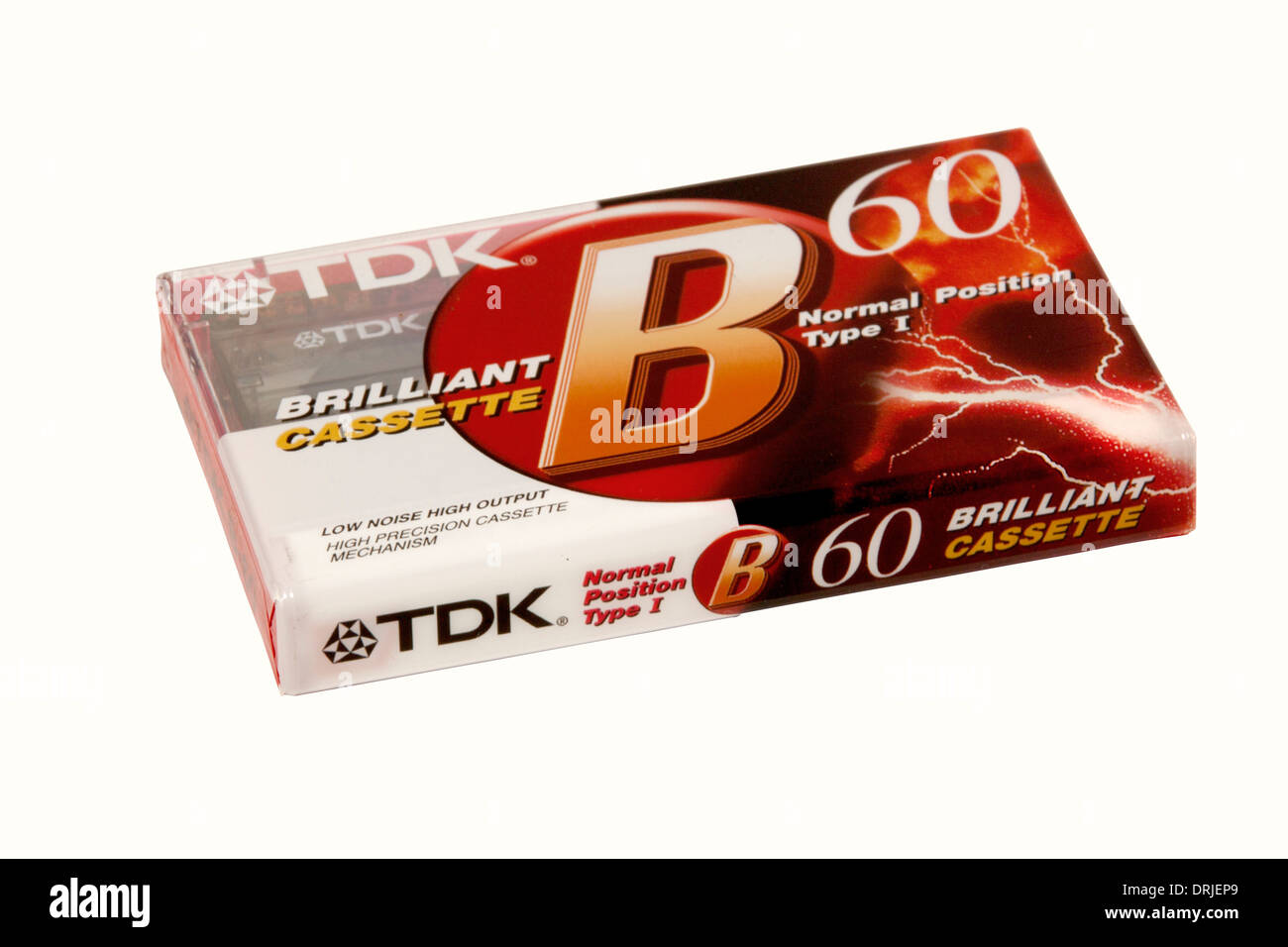 DURBAN, SOUTH AFRICA - JANUARY 27, 2014: Unopened TDK 60 Minute cassette tape - Stock Image