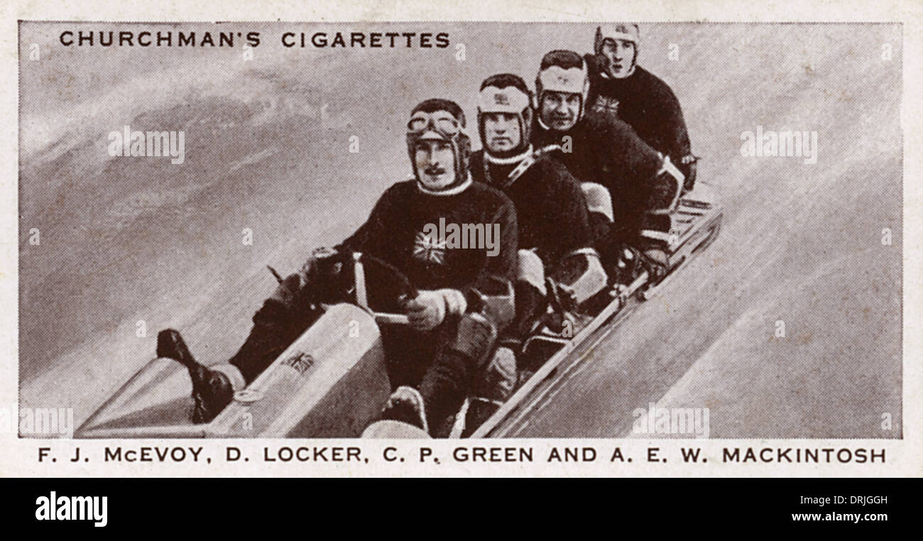 British bobsleigh team, world champions of 1936 - Stock Image