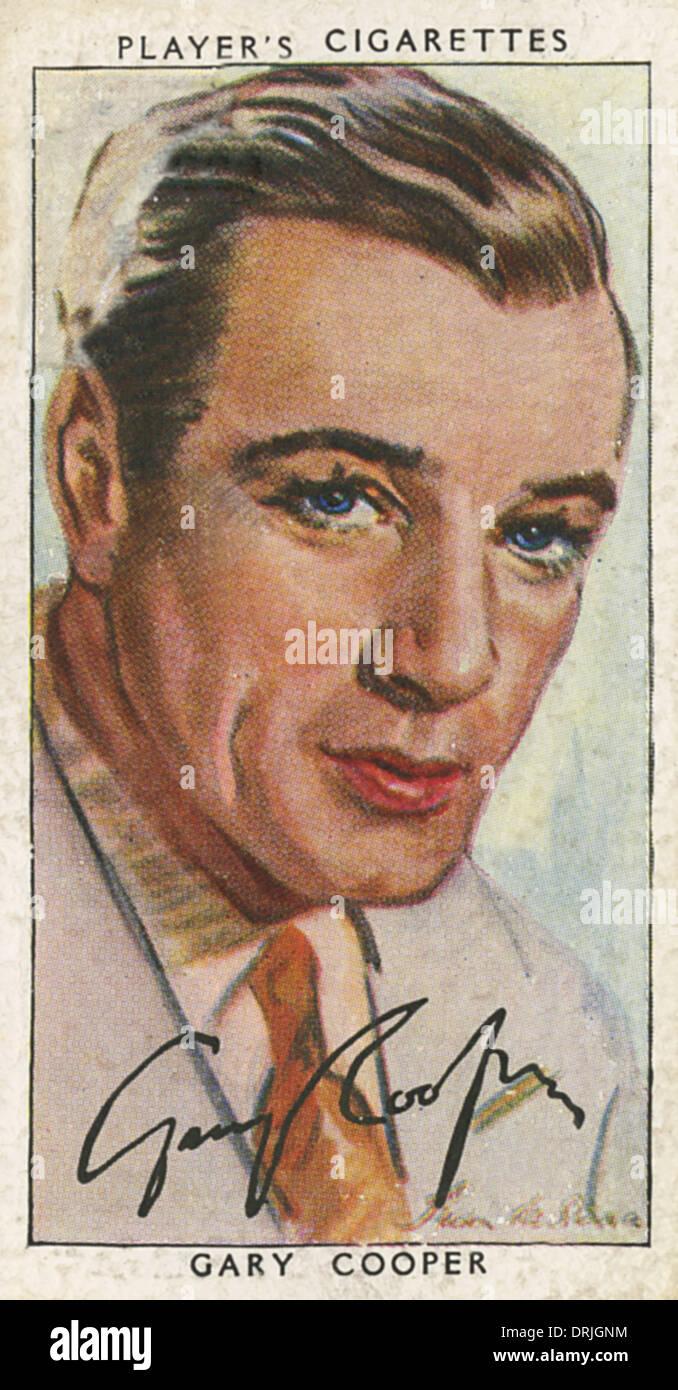 Gary Cooper, American film actor - Stock Image