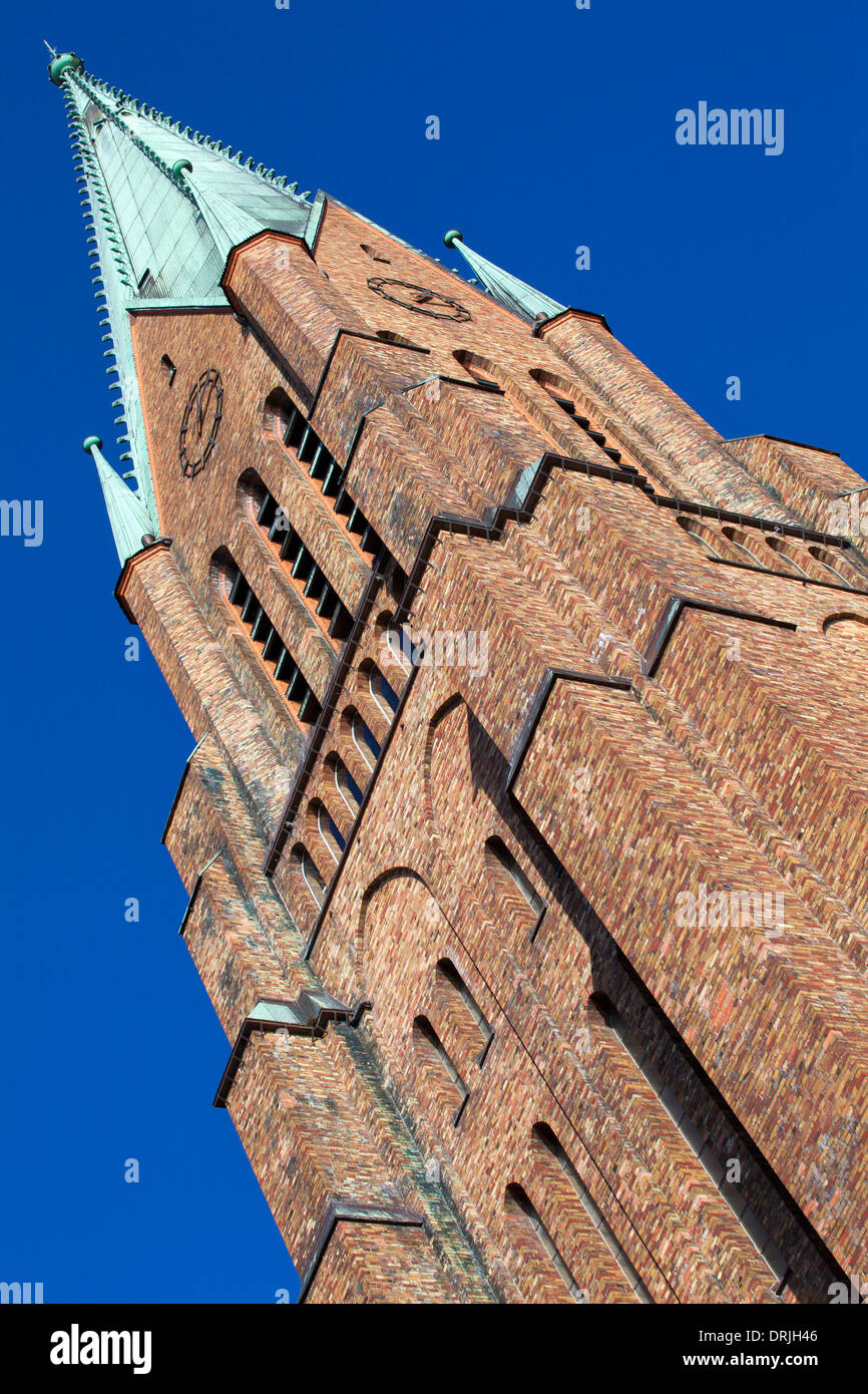 Tower of th Dom St. Petri in Schleswig, Germany - Stock Image