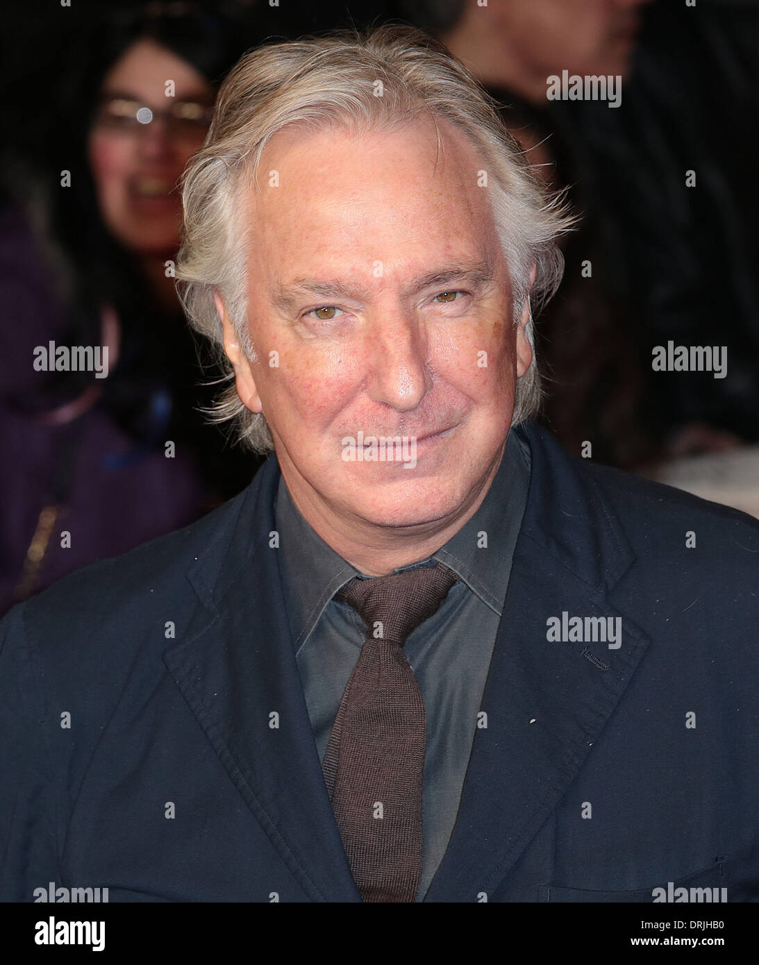 London, UK, 27th January 2014 Alan Rickman attends the UK premiere for The Invisible Woman at Odeon Kensington, High Street Kensington, London Photo: MRP/Alamy Live News - Stock Image