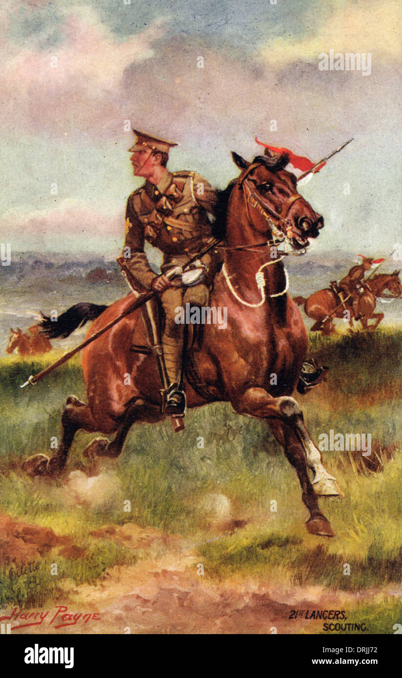 21st Lancers - Scouting - Stock Image